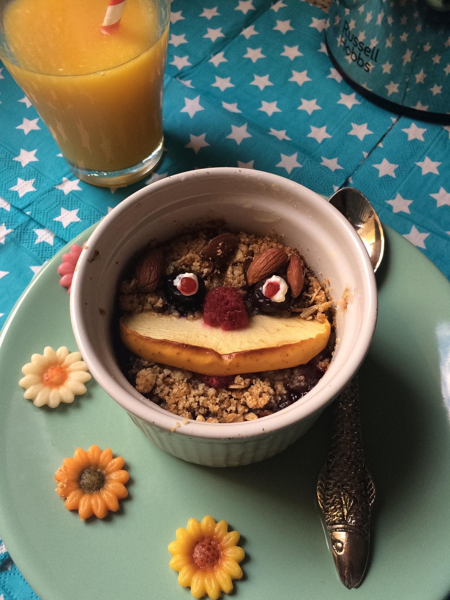 Receta pastel de cereales y frutas para los más pequeños de la casa
