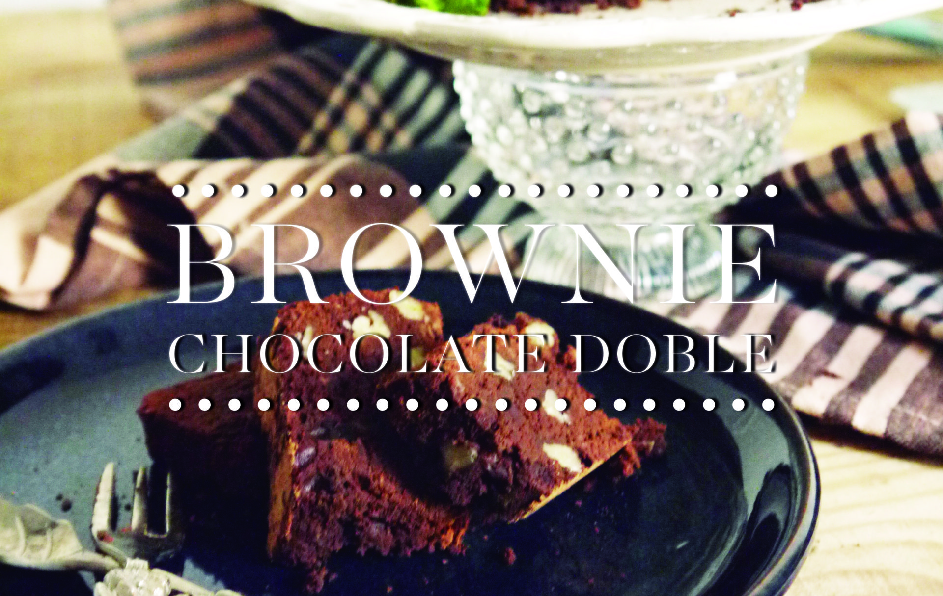 Mejor Receta de Brownie chocolate Doble