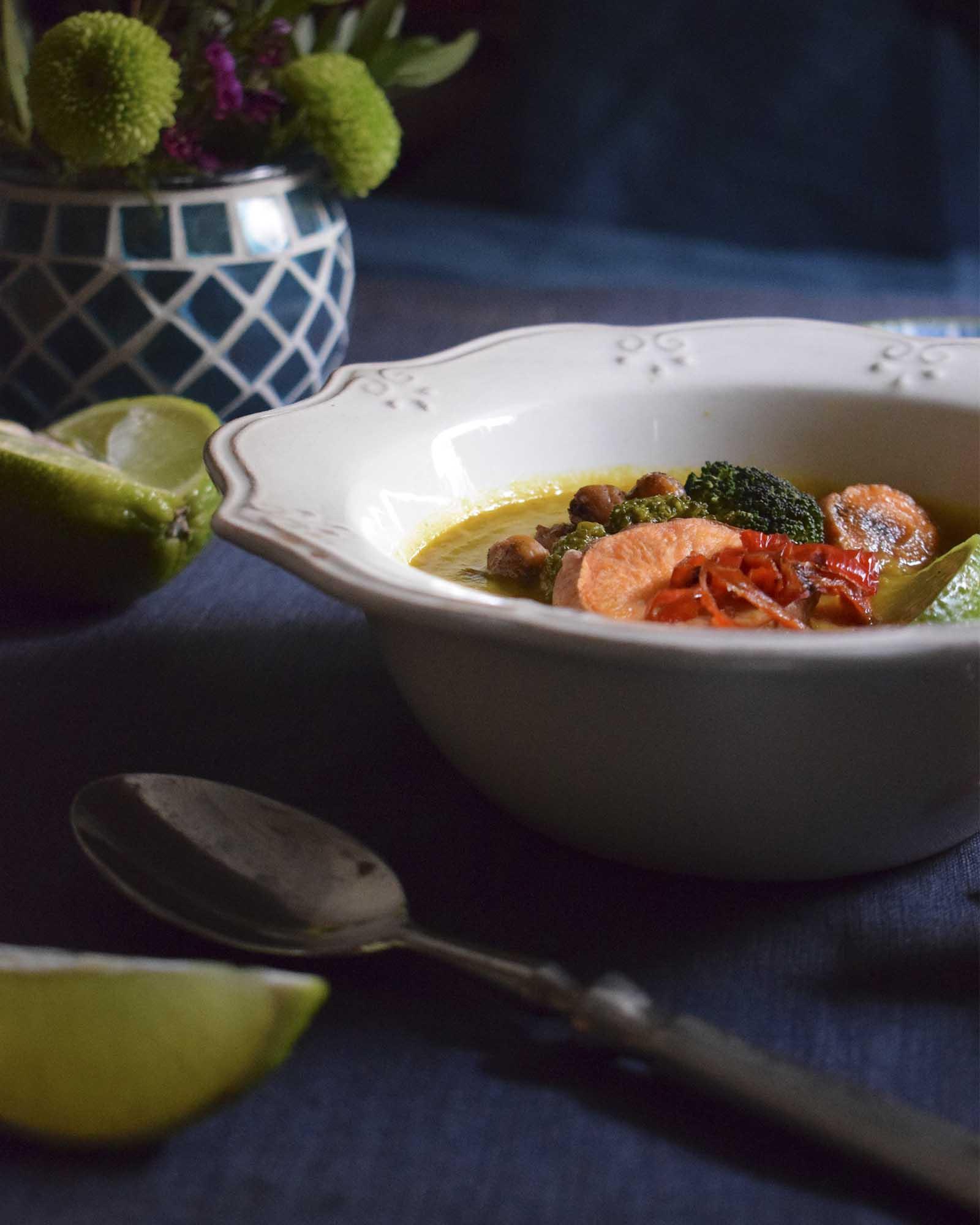 Sopa de Verduras Tailandesa, deliciosa!