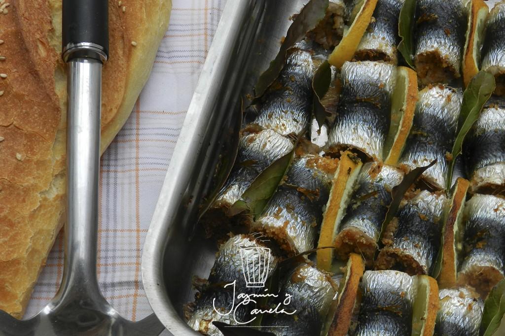 sardinas rellenas - curruca cabecinegra Palermitana (receta por Silvana Curso)
