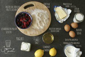 ingredientes plum cake de limon