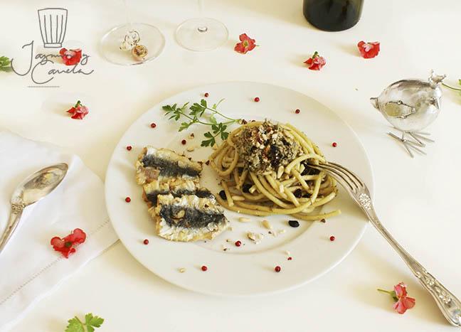 BUCATINI CON LE SARDE - Pasta con sardinas
