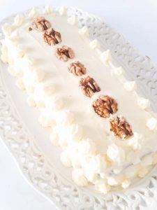 carrot cake receta, pastel de zanahoria