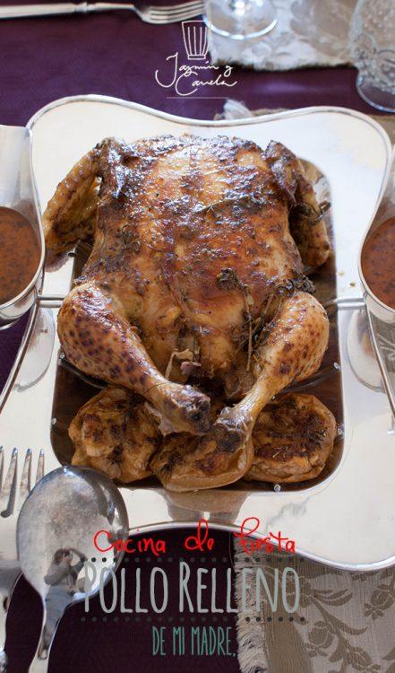 Pollo relleno paso a paso, receta de mi madre 7