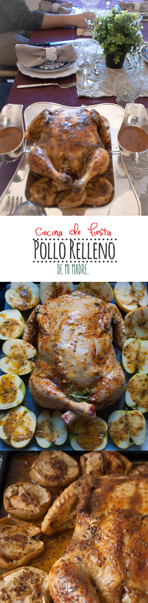 pollo relleno largo pinterest