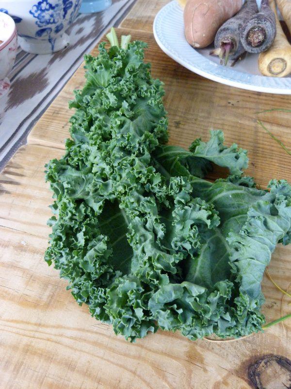 verduras-al-horno-con-kale-con-especias-receta-fácil-Kale-crudo