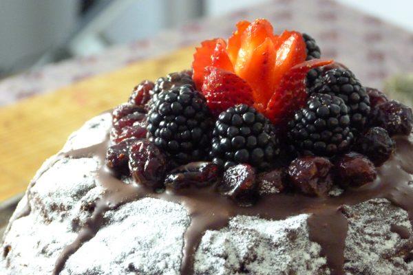 Cómo hacer panettone relleno de mascarpone con pistachos y chocolate 7